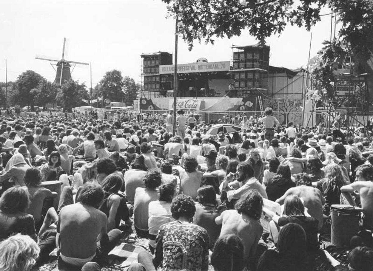 Kralingen podium met molen (Stadsarchief Rotterdam)