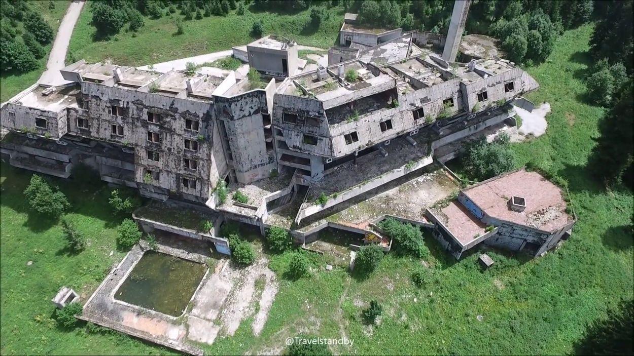 War Abandoned hotel Olympic village Sarajevo - credit Travelstandby
