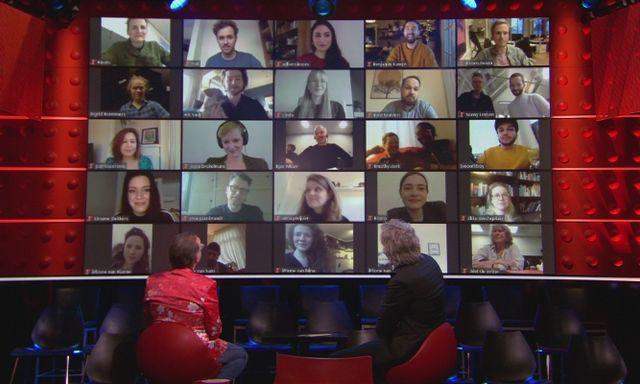 Afbeelding van Opening laatste uitzending met redactie DWDD